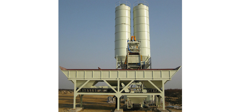 What are the main characters of HZS25 concrete batching plant