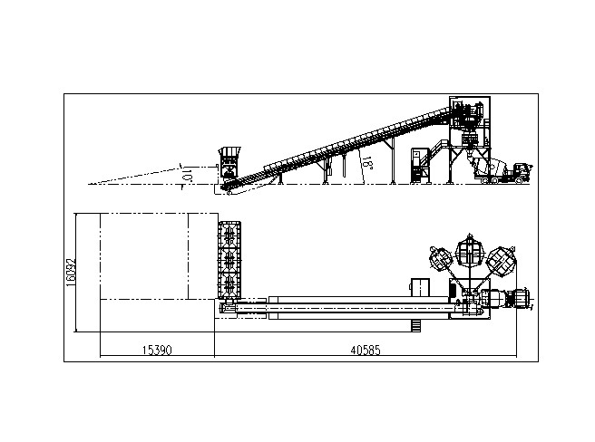 HZS90 concrete batching plant