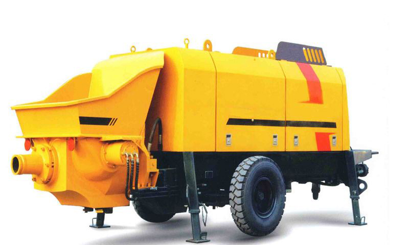 Brief introduction of trailer concrete pump HBT80 series