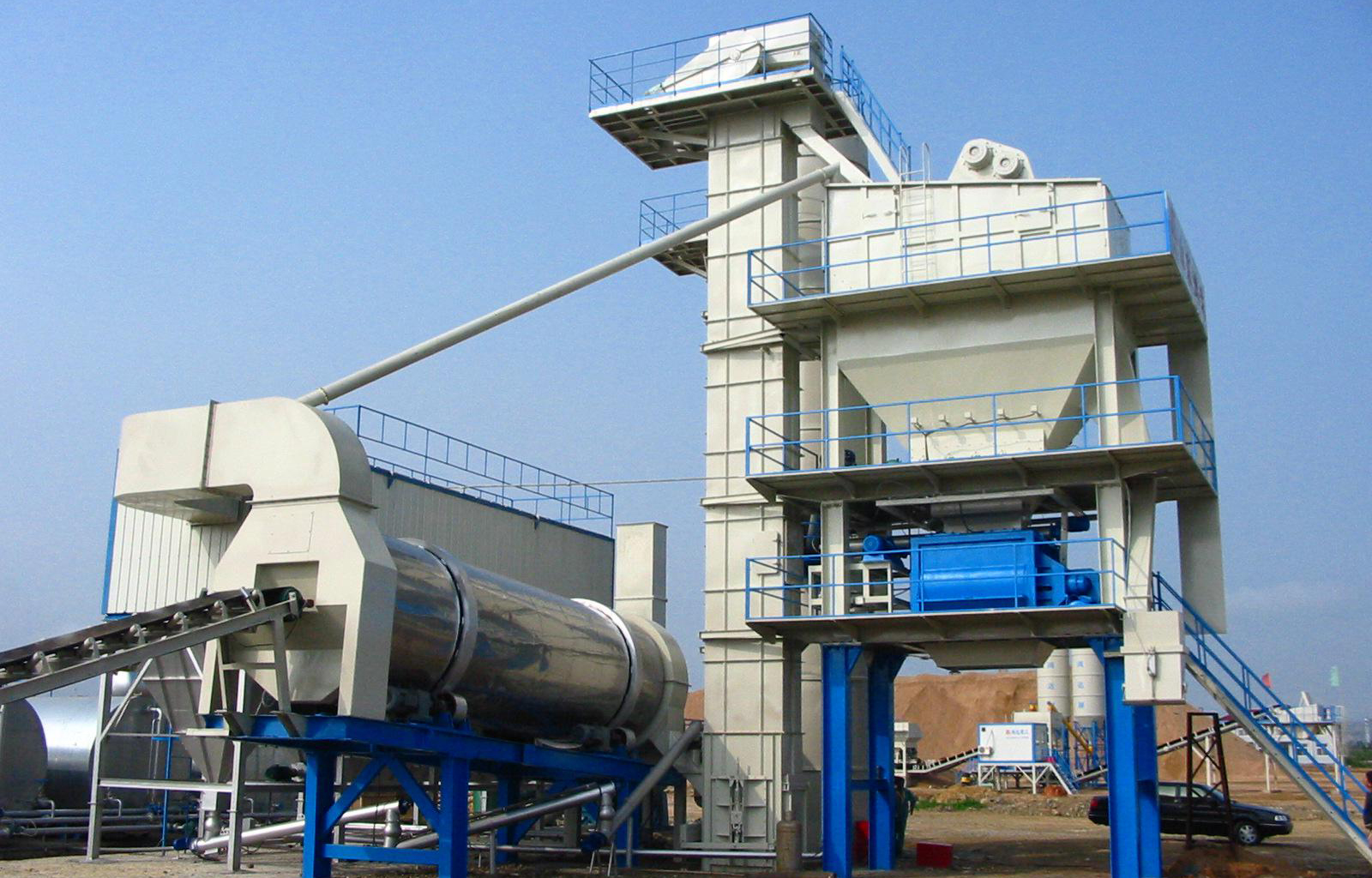 Asphalt mixing plant Upgrade a comprehensive construction with low cost