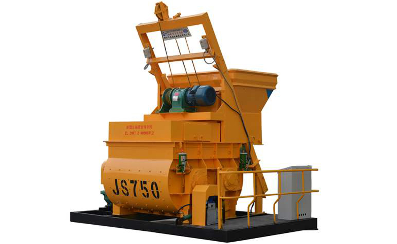 The characteristics of concrete mixer machine JS750