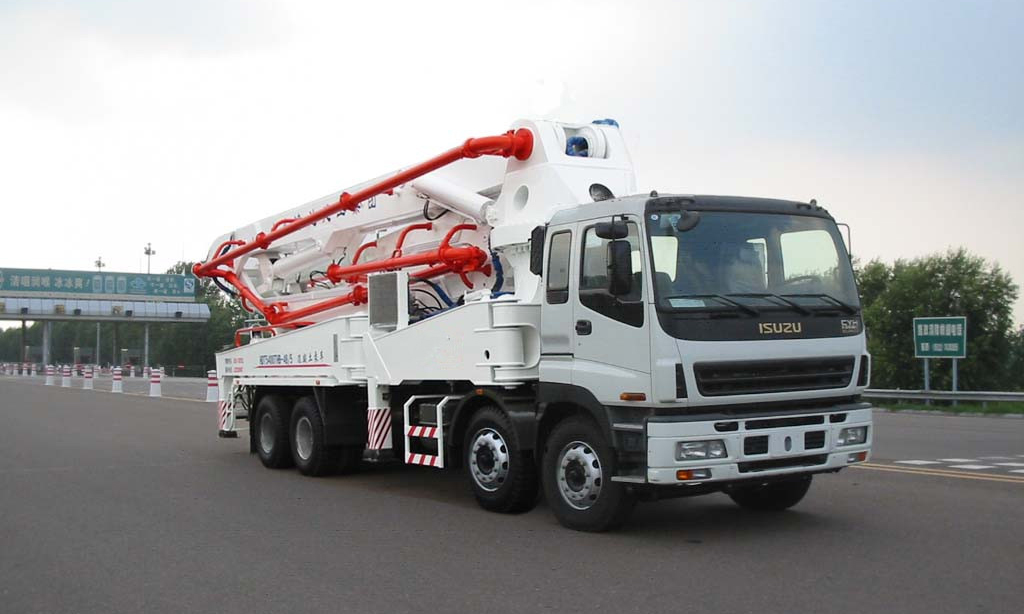The advantages of concrete pumping truck in construction