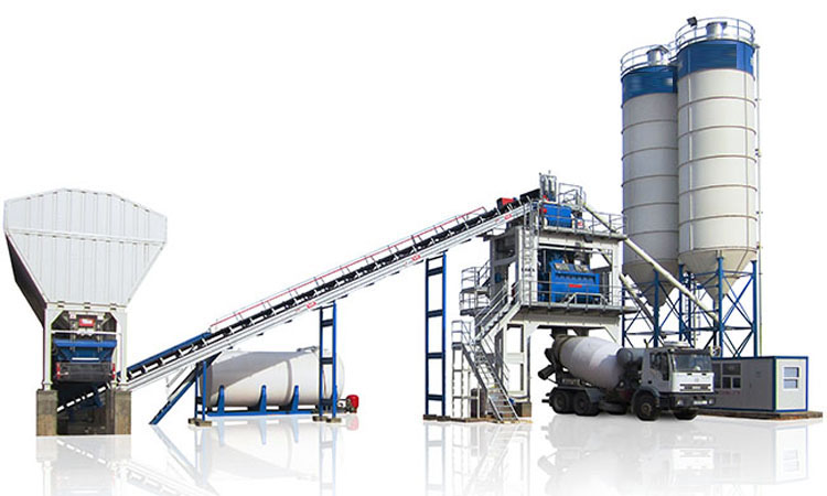 Why does the portable concrete batch plant be produced
