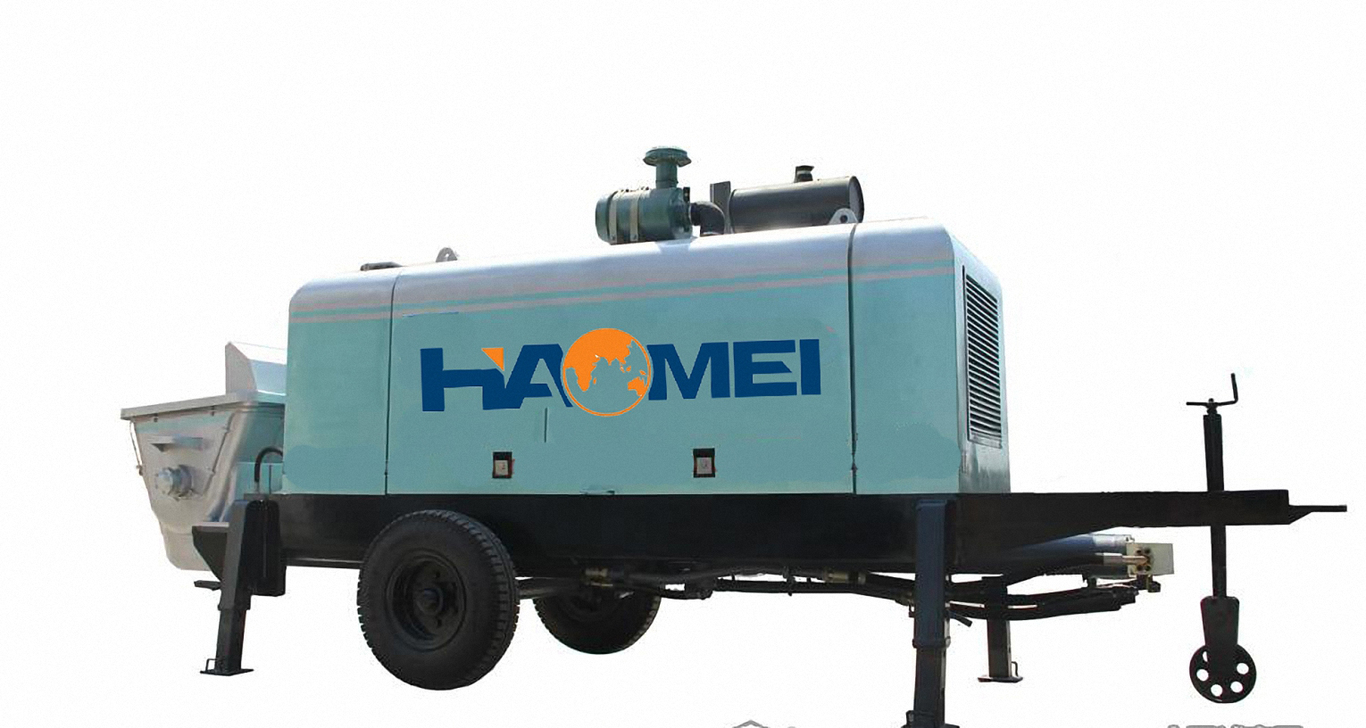 Haomei concrete pumps sell well all over the world