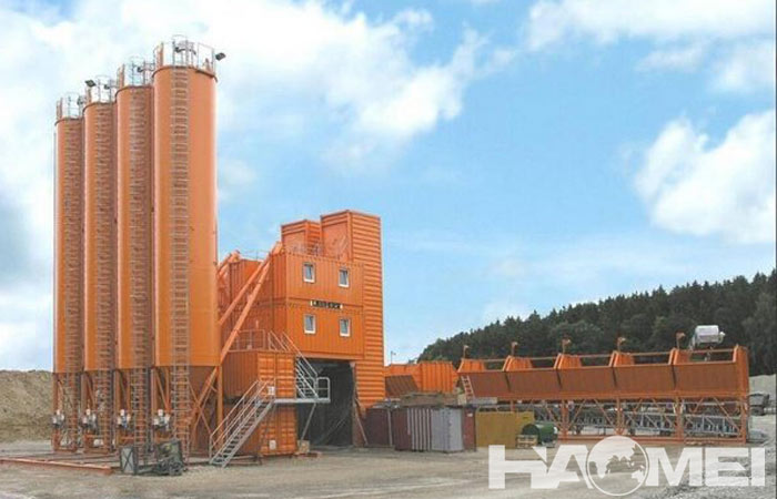 stationary concrete mixer plant factory
