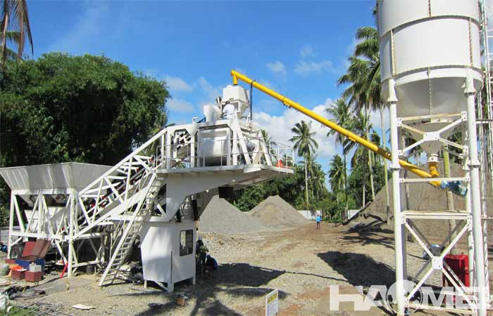 china mobile concrete batching plant