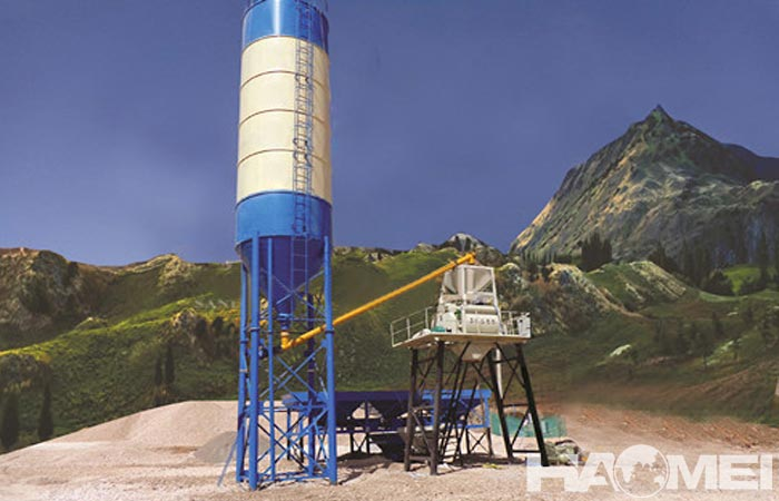 mini concrete batching plant price