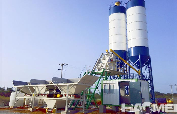 The metering system of mini concrete batching plant