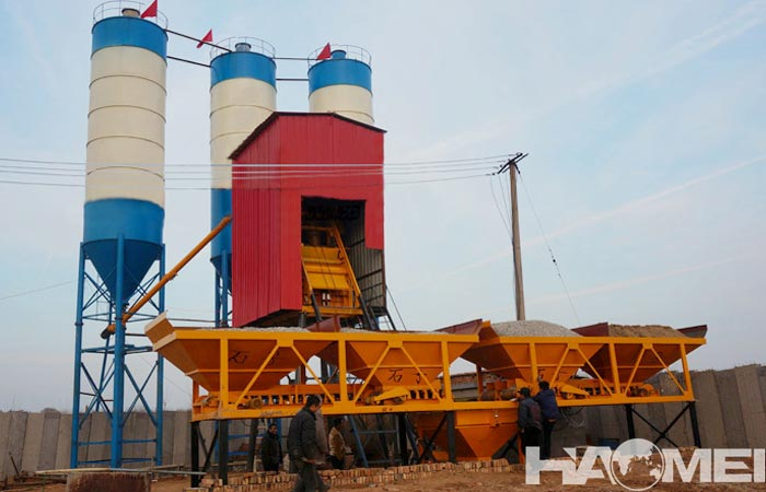 The price and configuration of mini concrete batching plant for sale