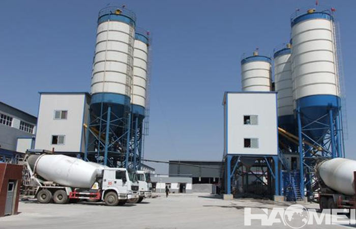 china wet mix concrete batch plant factory