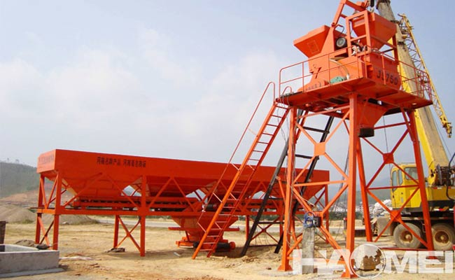 HZS25 mini ready mix concrete plant from china