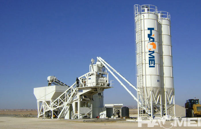 Energy efficient mobile ready mix concrete plant