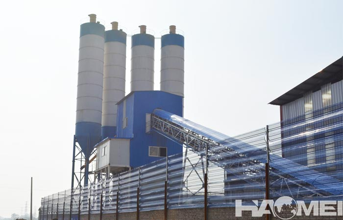 Belt type concrete batching plant for sale