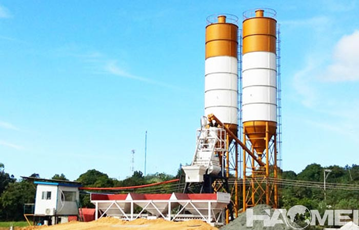 hzs25 stationary batching plant
