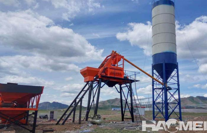 Small concrete batching plant model select