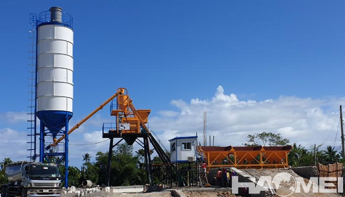 Hzs50 concrete batching plant in the philippines