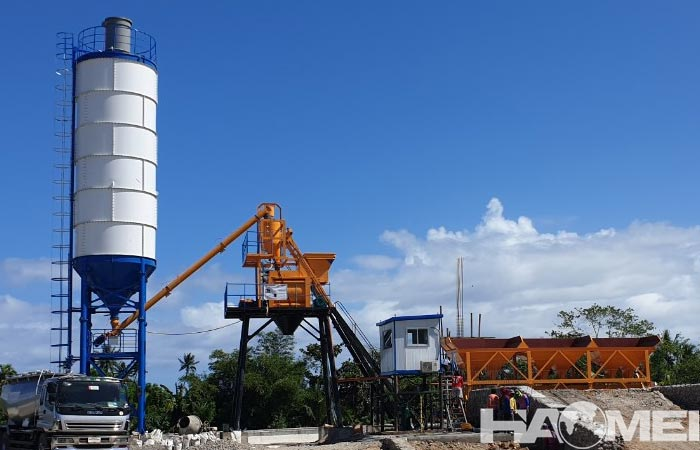 mini mix concrete plant for sale