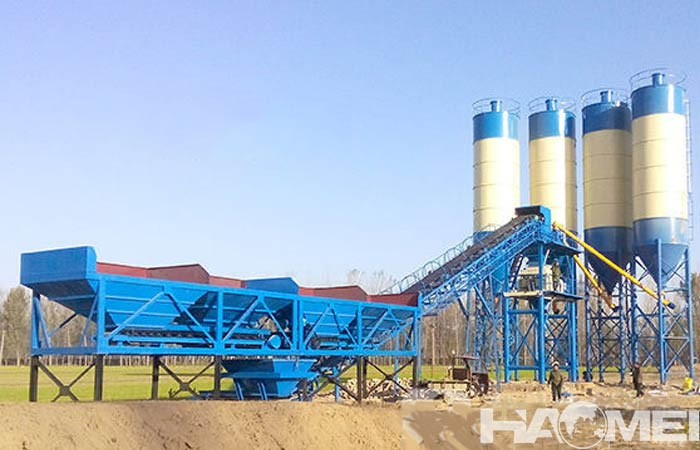 hzs concrete batching plant
