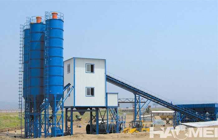 stationary concrete batch plants