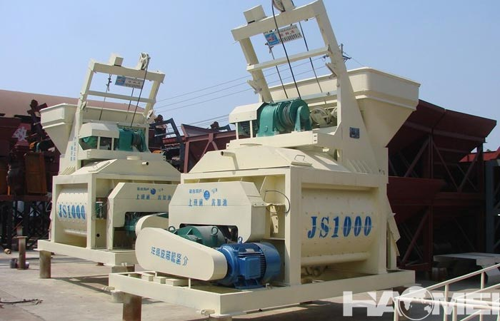 Twin shaft cement mixer for sale