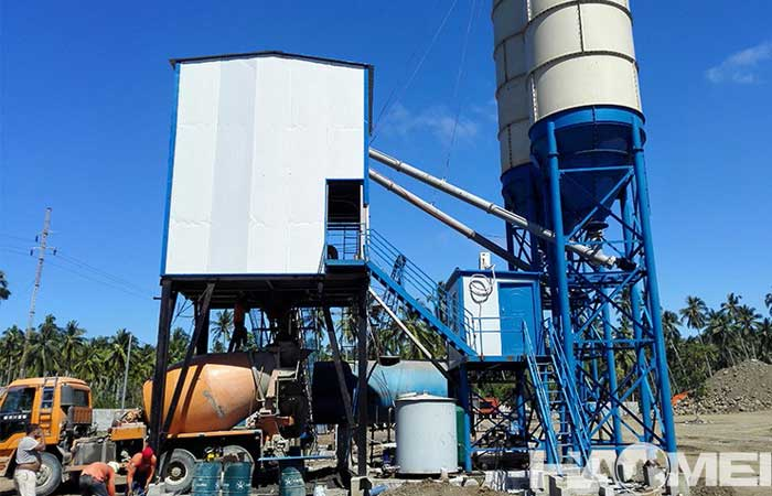 concrete mixer plant price