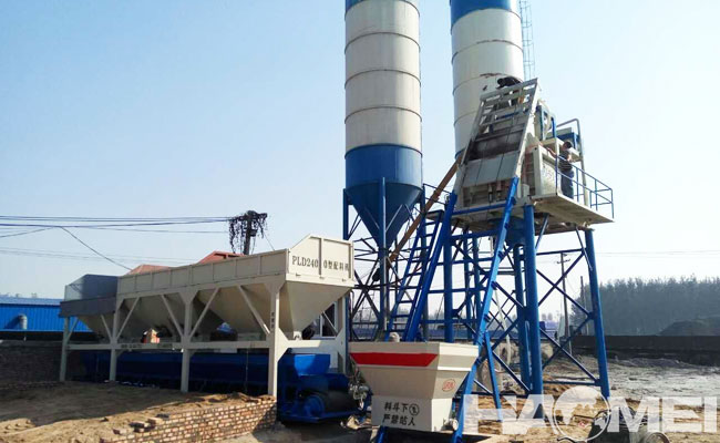 efficient concrete mixing plant