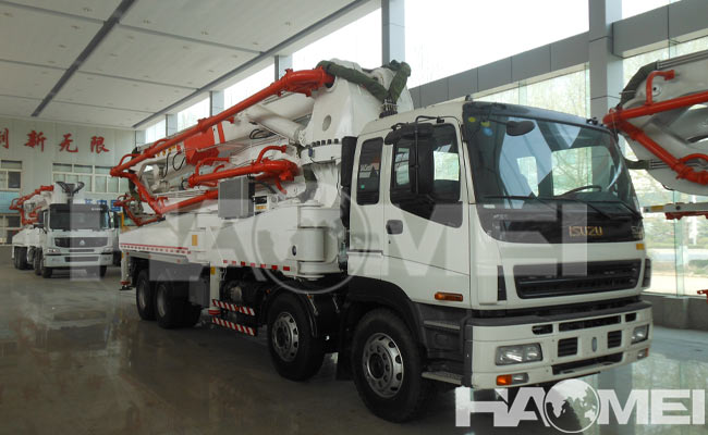 New concrete pump truck price