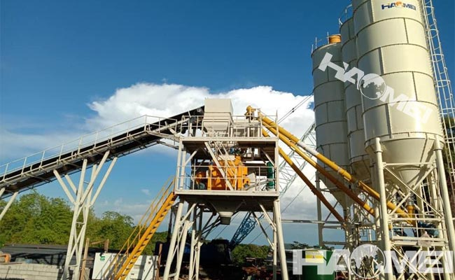 Hzs90 concrete batching plant case