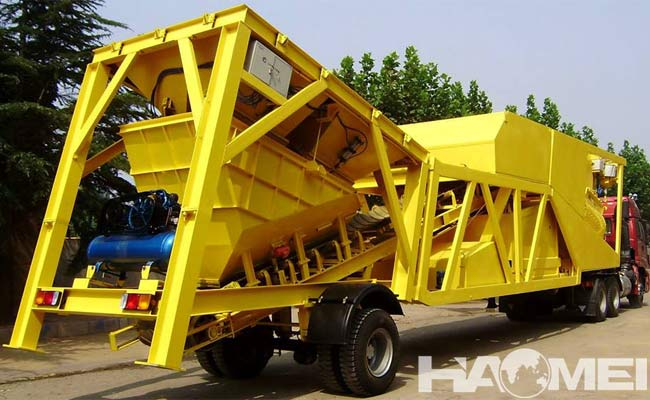 ready mix concrete mobile batch plant