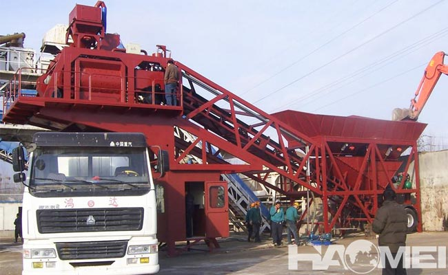 mini mobile batching plant price
