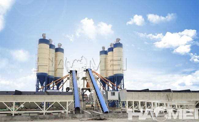 concrete mixer station